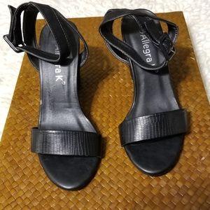 Allegra K Chunky Block Heels. Ankle Strap. Size 7
